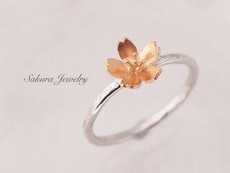 桜の指輪【L・桜8mm】【受注生産】サイズオーダーの画像