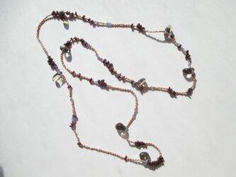 【淡水真珠と3種類の天然石ネックレス】の画像