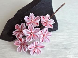 姫桜の舞✿つまみ細工 コームor簪 卒業式・結婚式・入学式・お花見の画像