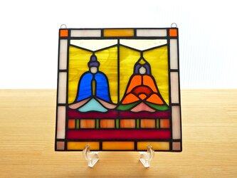 ステンドグラス ミニパネル ひな人形ii 15cmの画像