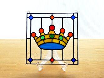 ステンドグラス ミニパネル クラウンii 15cmの画像