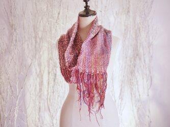 手織り スヌード秋冬の画像