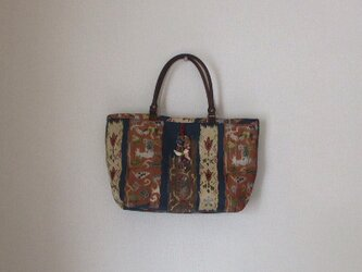 名古屋帯からお手軽トートバック 絹の画像