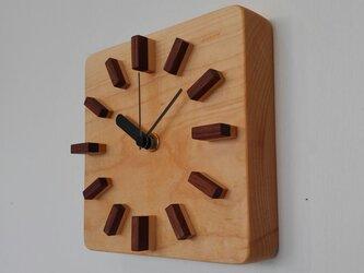 小さな掛け時計④ 角丸の画像