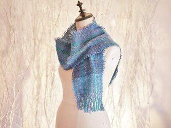 手織り ストール/秋冬糸の画像