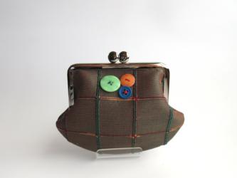 オールドタイシルク:茶の畝織の画像