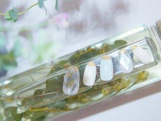 ハーバリウムモチーフ宝石ネイル 送料無料【MN-F 007】の画像