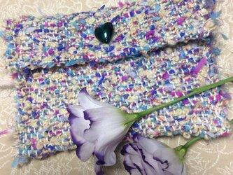 ♪春色手織りポーチの画像