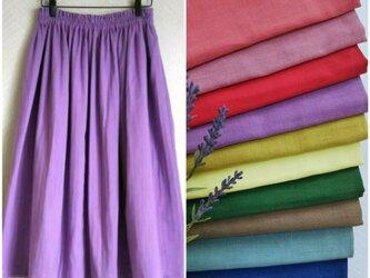 ダブルガーゼ (全10色) ロングスカートの画像