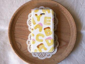 帯なし手帳型スマホケース biscuits alphabet (assort)【iPhone/Android 各機種対応】の画像