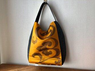 帯Bag 唐草文様 袋帯リメイクの画像