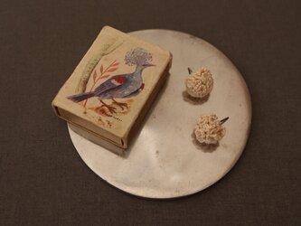 【FRIL】糸のフリルボールピアス [綿] [両耳ペア] [φ15mm]の画像