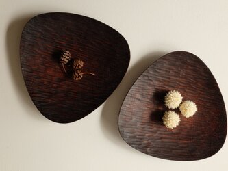 胡桃のおむすび皿(223*220) 2枚セット 190214の画像