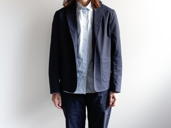 durable tailored jacket/navyの画像