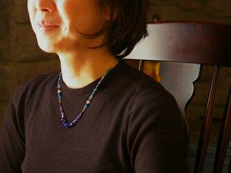 オリエンタルネックレス<ブルー>の画像
