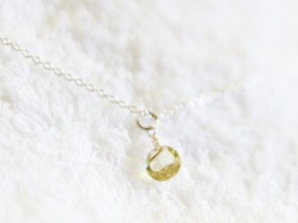宝石質レモンクォーツのチェーンネックレス(Silver925)の画像