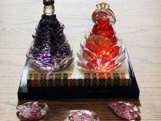 福ぷくガラスの雛人形 水中藤(桃の節句)おひなさまの画像