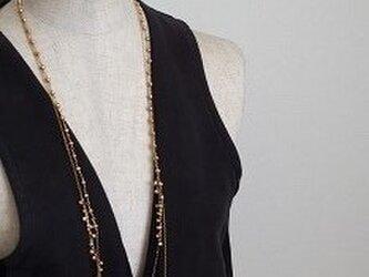 goldパールの2連ネックレスの画像