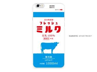 iphone7 ケース フレッシュミルク 牛乳 milk スマホケースの画像