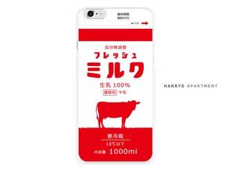 iphone7 ケース フレッシュミルク レッド 赤い牛乳 milk スマホケースの画像