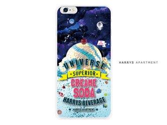iphoneXS ケース 宇宙 クリームソーダ スマホケースの画像