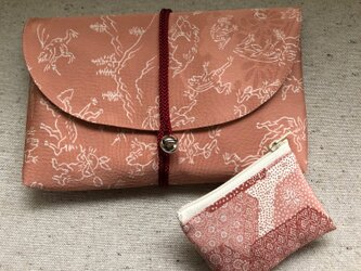 御朱印帳ケース&小銭ポーチ・鳥獣戯画2の画像