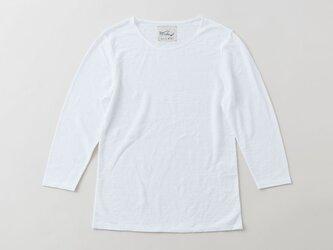 リネンコットンアンダーウェア 7分袖(ホワイト・レディースMサイズ)の画像