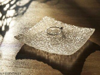 無色透明ガラスのアクセサリートレイ - 「 灯りのたね」 ● 約7.5cmの画像