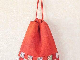 市松メッシュの巾着Bag-07の画像
