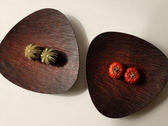 胡桃のおむすび皿(222*220) 2枚セット 190217の画像