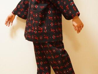 セミオーダー 羽織と着物より『作務衣』お仕立てします M〜Lサイズ 女性用の画像