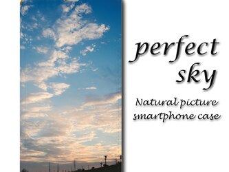 perfect sky【手帳型スマホケース(帯なし)】〇送料無料〇空/夕焼け/雲/きれい/さわやかの画像
