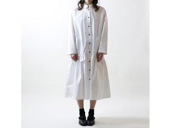 ハイカウントコットン・コート・ワンピース/ホワイトの画像