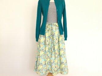 花柄ギャザースカートの画像