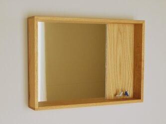 木製 箱鏡 栗材3の画像