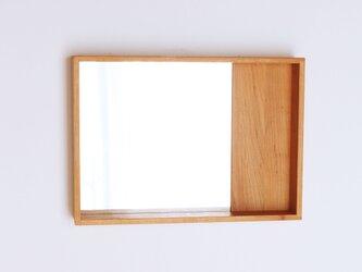 木製 箱鏡 桜材7 ミラーの画像