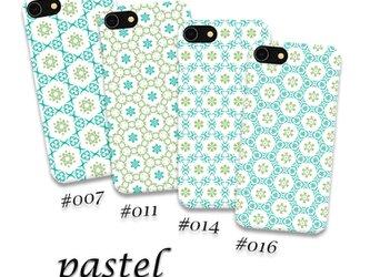pastel 【Android 背面スマホケース】〇送料無料〇幾何学模様/パステル/春/夏/さわやかの画像