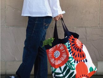 コンパクト おかいのもかばん Big カラフルフラワーの画像