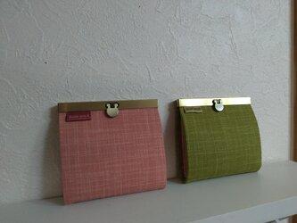 カード財布M(和み 桃&緑茶)の画像