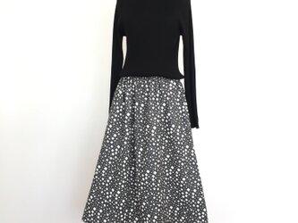 ダイヤ柄ギャザースカートの画像