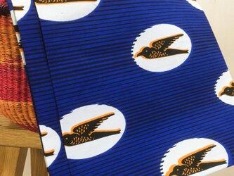 アフリカン パーニュ 布 ツバメの画像