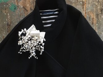 ーしろすず蘭ー...suMire-bouquet布花コサージュ。入学式、結婚式に。の画像
