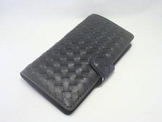 ♪市松 チェッカー iPhoneXs max 手帳型レザーケース♪の画像