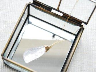 宝石質ラフロックローズクォーツのネックレス 14kgfの画像