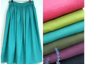 アイリッシュリネン(全7色) ロングスカートの画像