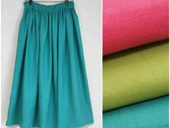 アイリッシュリネン(全3色) ロングスカートの画像