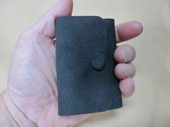 超コンパクト三つ折り財布 東レウルトラスエード ダークグレーの画像