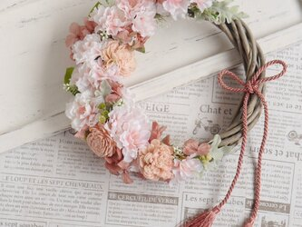 はんなり八重桜のリースの画像
