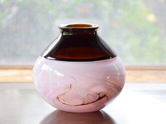 インカルモ花瓶(ブラウン×ピンク)の画像