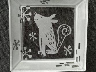 イヌ角皿    春来るの画像